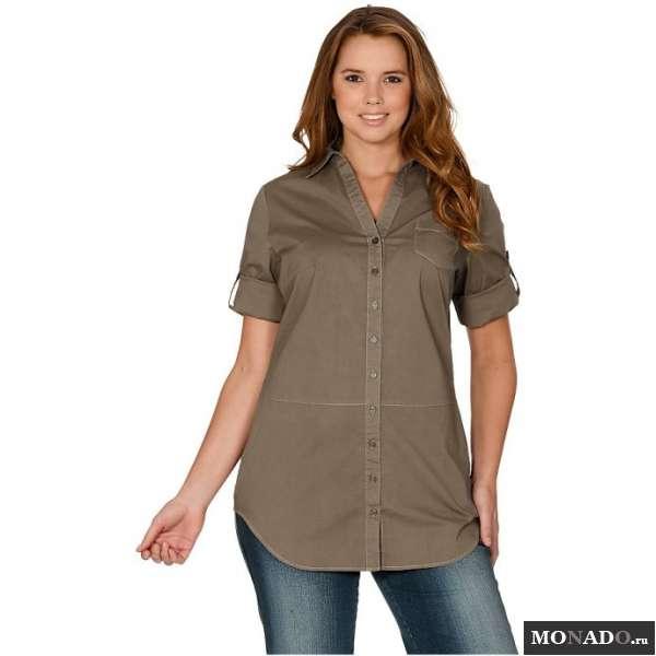 Удлиненная блузка сзади с доставкой