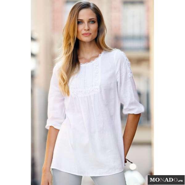 Купить Белую Блузку Из Льна