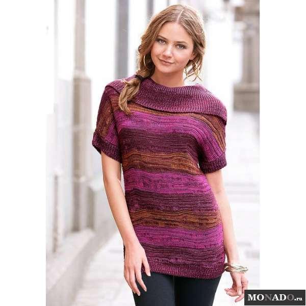 Меланжевый Пуловер Женский