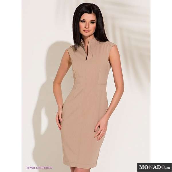Фото платье с воротником стойка