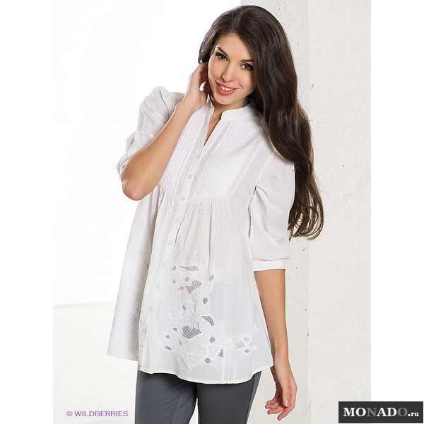 Белая Блузка С Жабо Купить Доставка