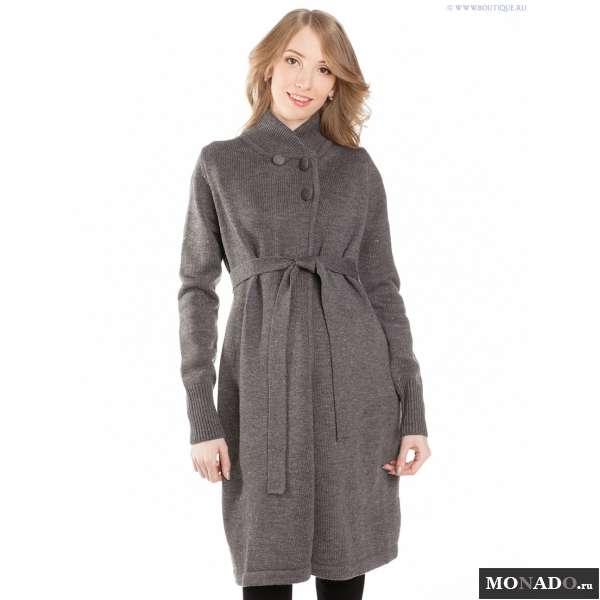 Вязаные пальто для беременных 45